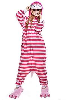 ZKomoL Adult Onesie Cheshire Cat Costume Unisex Party Pajamas for Women Cosplay Sleepwear