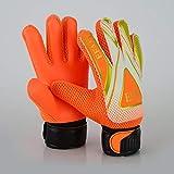 EFAH Guantes de portero de fútbol para niños, niños, adultos, guantes de portero de fútbol de protección de palmas (naranja, talla 4, adecuado para niños de 6 a 9 años)