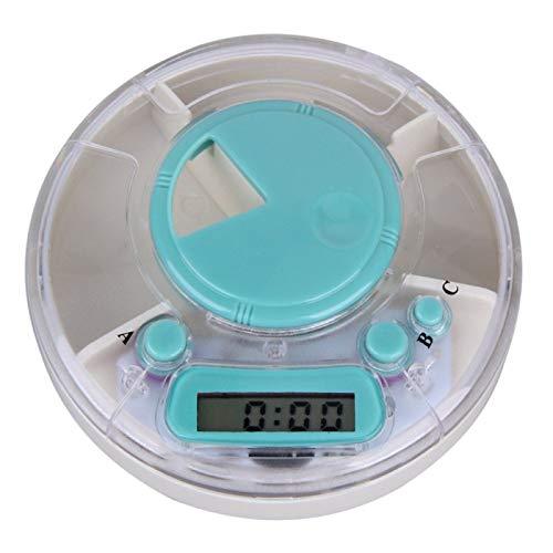 QXTT Alarma Digital Caja De Pastillas Pastillero Electrónico Automático con Alarma para Actividades Al Aire Libre Viajes