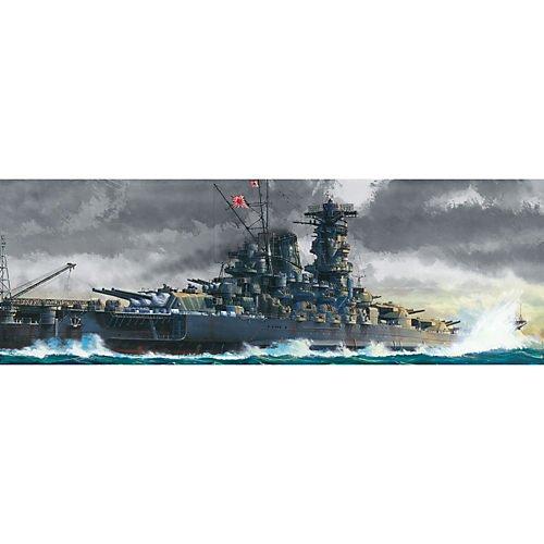 Tamiya - WWII Yamato, Version 2005 – japanisches Super-Schlachtschiff, Maßstab 1:350, XXL Modell, Flugzeugträger, Zweiter Weltkrieg, 76cm lang