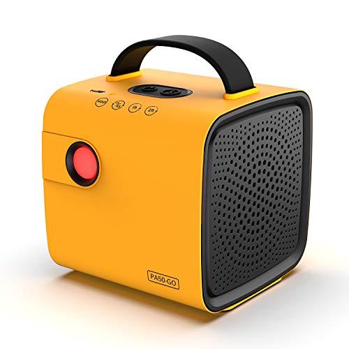 Airthereal PA50-GO Tragbarer Ozongenerator - Schnurloser, batteriebetriebener Geruchsbeseitiger für Autos, auf Reisen, im Schuhschrank und Anderen kleinen Räumen (gelb)