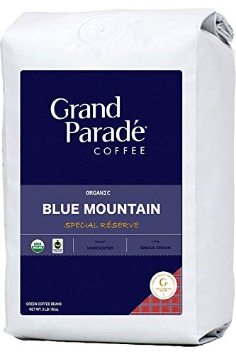 Grand Parade Coffee, 5 LB Unroasted Coffee Beans - Organic 100% Blue Mountain - Kenya Special Reserve - Specialty Arabica - High Altitude Single Origin - Direct Trade - Fresh Raw Green Coffee