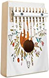Portable Mbira Sanza Cartoon Kalimba 10 Keys Thumb Piano Exotic Safari Animals All Together Comic Creature with Zebra and Friend Sketch Portable Mbira Finger Piano Music Gift for Kids Adult Beginners