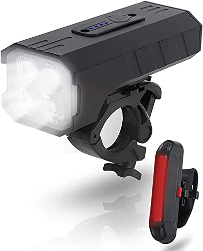 LucaSng Bike Lights Front and Back - 5000 Lumens bicycle lights 4 LED 5000 mAh USB Rechargeable Waterproof cycle Lights 7 Mode cycling lights & reflectors