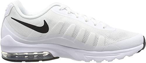 Nike Herren Air Max Invigor Laufschuhe, Weiß (White/Black 100), 43 EU