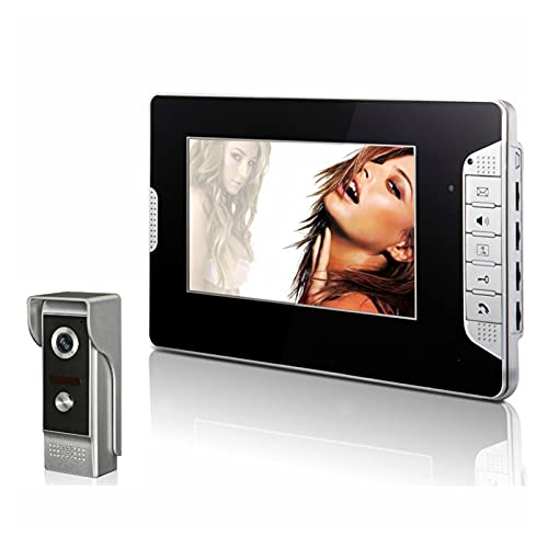 DNAMAZ Portero 7'Wired Video Door Putton Three Audio Two-Way Intercom Security Doorbell Cámara IR Puerta Intercomunicadora Teléfono automatico (Color : V70E2 M4 1V1)
