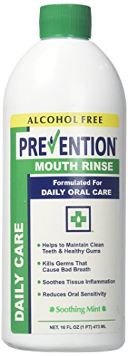 Prevention Daily Care Mouthwash Alcohol Free, 16 Ounce