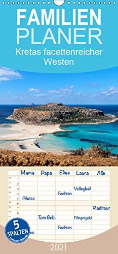 Kretas facettenreicher Westen - Familienplaner hoch (Wandkalender 2021, 21 cm x 45 cm, hoch)