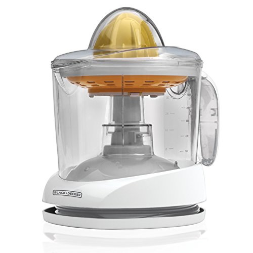 BLACK+DECKER 32oz Citrus Juicer, White, CJ625