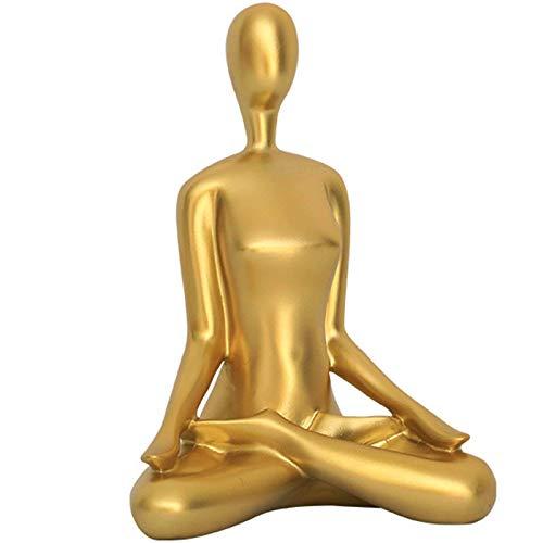Estatua de yoga para mujer meditadora, esculturas, decoración del hogar, sala de estar, decoración de oficina, gran idea de regalo para amantes del yoga