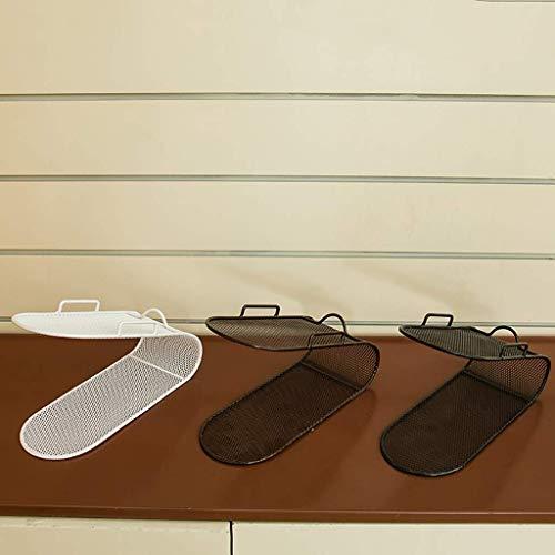 B-fengliu Pack de 5 exhibición del Zapato Zapatero Tienda Caja de Acabado Zapatero Zapatero Acabado Cuidado Estante de Almacenamiento de Doble Capa de Arte de Hierro