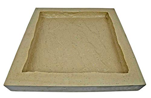 Veneer Stone Rubber Molds for Concrete, Slate Texture, Wall and Column Cap/Hearthstone/Paver 18', Recycled Material
