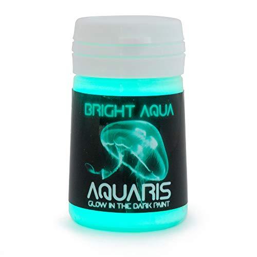 SpaceBeams Glow in The Dark Paint, Aquaris 0.68 fl oz (20ml), Bright Aqua Color (Light Blue/Turquoise)