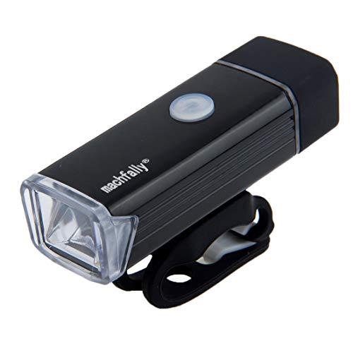 Luces de Carretera en Bicicleta, luz de Alta Linterna de la Bicicleta, LED USB Recargable Brillante Luz Brillante de Aluminio con Montaje del Manillar de Mi XZZ (Color : Black)