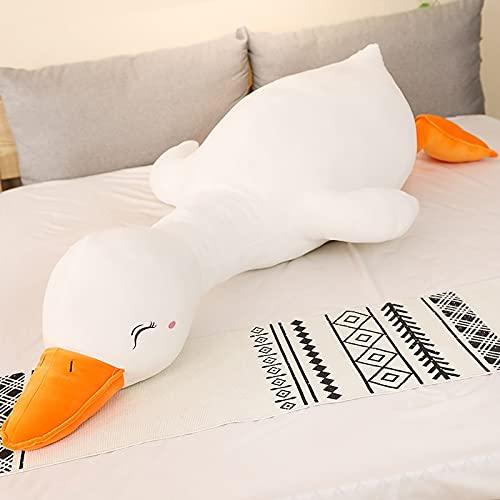 Almohada de Felpa de Pato Gigante Juguete de Peluche Lindo Almohada para Dormir Linda Muñeca de Peluche Regalo Dulce Divertido para Amigos Regalos 120cm whiteeyesclose