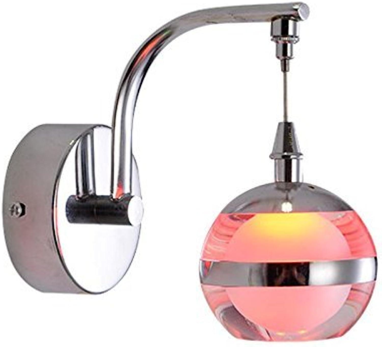 tienda en linea Zhang Ying ZY 3W LED Bola de acrílico Apliques de de de Parojo Lámpara de Parojo de Pasillo Simple Dormitorio de Moda Luz de Parojo de Pasillo (Rojo)  tienda de venta