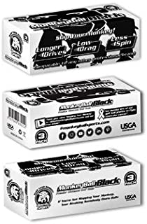 Slap Your Monkey! Primator Long Distance Golf Ball (One Dozen) | Exploding Off The Tee! | USGA Conforming | High Launch | Embrace Your Vice | High Performance | Black Logo, White Golf Ball