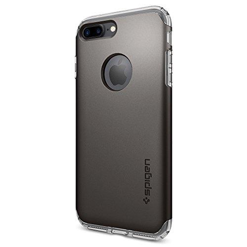 Coque iPhone 7 Plus, Spigen® [Hybrid Armor] AIR CUSHION [Gunmetal] Clear TPU / PC Frame Dual Layer Premium Housse Pour iPhone 7 Plus - (043CS20697)