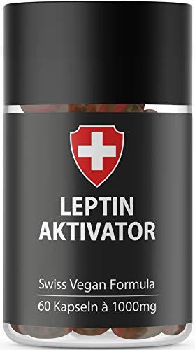 Leptin Aktivator Kapseln hochdosiert für Leptin Diät | Höchste Qualität von Active Swiss | Leptin Stoffwechsel Diät | Natürliche Diätunterstützung | Schlank in 21 Tagen Leptin abnehmen | Hormonfrei