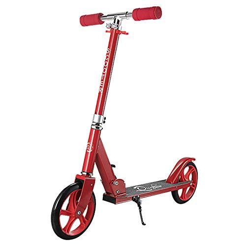 WUDAXIAN Patinete acrobático, Mango Ajustable y Patinete Mate ensanchado de Aluminio para Adolescentes, niños de 7 a 14 años.