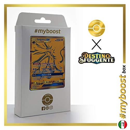 Solgaleo-GX SM104A Shiny Gold - #myboost X Sole E Luna 11.5 Destino Sfuggente - Doos met 10 Pokemon Italiaanse kaarten