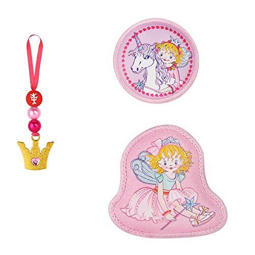 """Step by Step Magic Mags Spiegelburg """"Prinzessin Lillifee, Rosarien"""", 3-teilig, 2 Magnet-Applikationen und 1 Anhänger, als Ergänzung für den Schulranzen oder Vorschulrucksack, für Mädchen"""