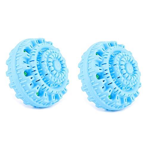 Cuasting 2 StüCke WWSche Kugeln für Wasch Maschine Magic Wash WWSche Kugeln Wiederverwendbare Ko Bade Zimmer WWScherei Flip Reinigungs Werkzeuge Blau