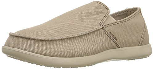Crocs Santa Cruz Clean Cut Loafer, Hombre Mocasín, Marrón (Khaki/Cobblestone), 42-43 EU