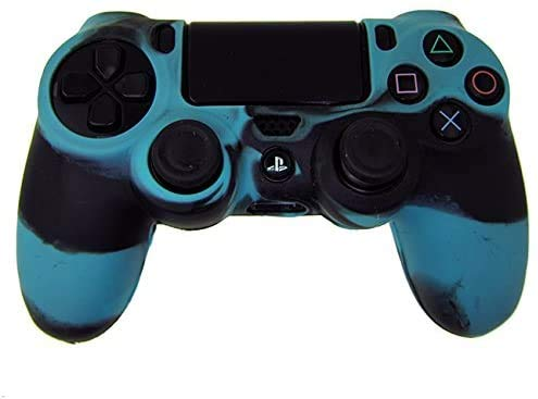 OUTLETISSIMO CUSTODIA COVER SILICONE CONTROLLER JOYSTICK PAD SONY PLAYSTATION 4 PS4 MIMETICA BLU