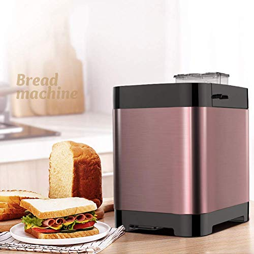 Máquina de hacer pan estantería Inicio automático y se fermenta desayuno máquina de pan Pequeño inteligentes llegan Carne de la seda de múltiples funciones de la máquina de pan 450W panificadoras de p
