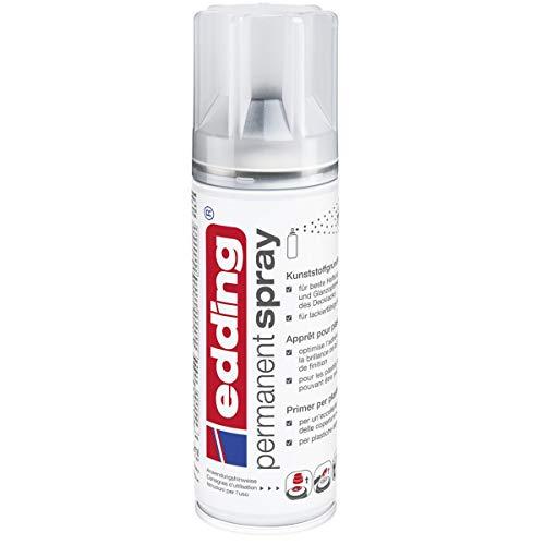 edding 5200 Permanent Spray Kunststoffgrundierung – farblos – Basis für ein gleichmäßiges Ergebnis der anschließenden Gestaltung von lackierfähigen Kunststoff-Oberflächen – Inhalt: 200 ml