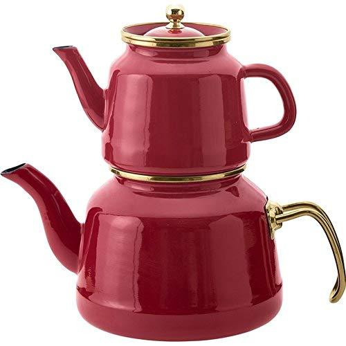 gousheng Set teiera retrò teiera Smaltata teiera Domestica | tè Turco | Scaldabagno | Teiera | tè Caldo