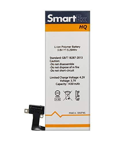 Smartex® Batteria compatibile con iPhone 4S | Capacità 1430 mAh | Batteria di Ricambio senza Cicli di Ricarica | 24 Mesi di Garanzia