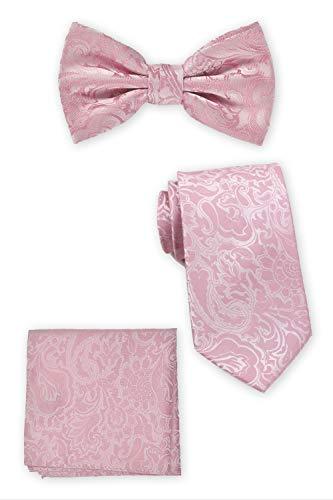 Puccini Set im Paisley-Muster | Krawatte + Fliege + Einstecktuch