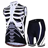 Sddlng Mountainbike-Trikot - High Stretch Wicking Sportswear 3D-Hosenpolster Atmungsaktiv Bequem Radfahren Freizeitkleidung -