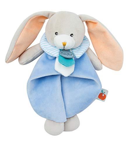Baby Nat' - Doudou Lapin - Bleu - Cadeau Bébé - Doudou...