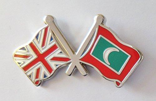 1000 drapeaux Maldives et drapeau du Royaume-Uni