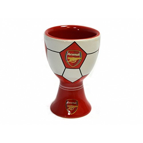 Arsenal FC Official Soccer Egg Cup (One Size) (Red/White/Gold)