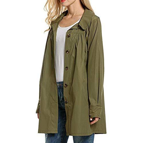 Heinside dames sweatshirt, glanzend, smal, voor buiten, waterbestendig, gevoerd, lange rankracht, regenjas met jas