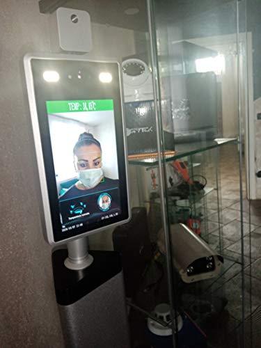 SPYtek ITALY - Rilevatore di temperatura termica corpo Rilevatore di temperatura controllo accessi febbre senza contatto Imager Termico Infrarossi Tablet Camera con allarme vocale