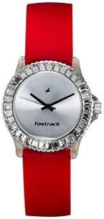 ساعة انالوج بمينا باللون الفضي للنساء من فاست تراك