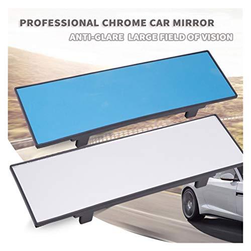 PREPP 1 unids Nuevo Universal 290mm HD Car Cromo Espejo Trasero Espejo retrovisor de Gran Angular Ancho Ancho Plano Planar Clip en Espejo de Vista Trasera (Color Name : White)