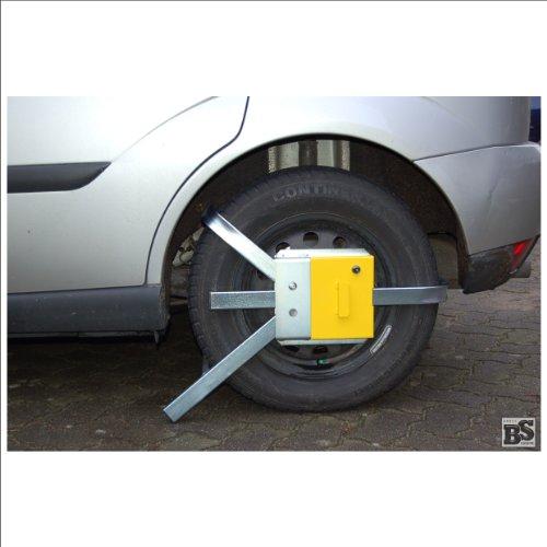 """Radkralle/Parkkralle """"BS-Varia 205-2005"""", Behördenkralle in D (Reifen-B: 155-195 mm, ø: 500-650 mm, F: 12-15"""")"""