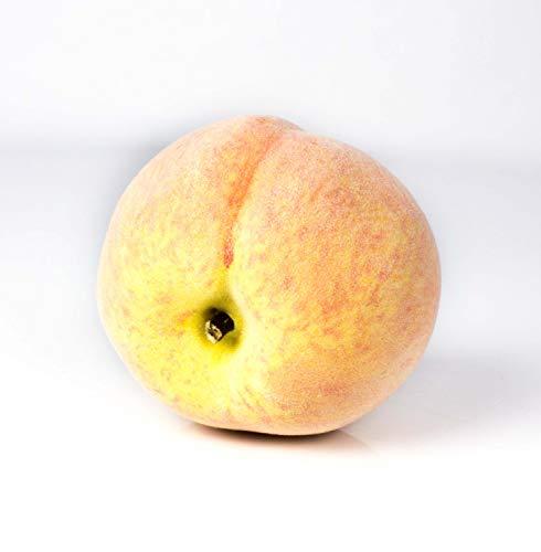 artplants.de Künstliche Pfirsich rot - gelb, samtig, 7,5cm, Ø 7,5cm - Künstliche Früchte - Künstliches Obst