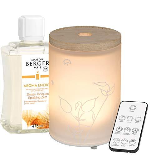 Lampe Berger Aroma Energy Difusor eléctrico, Satinado/Blanco, 475 ml