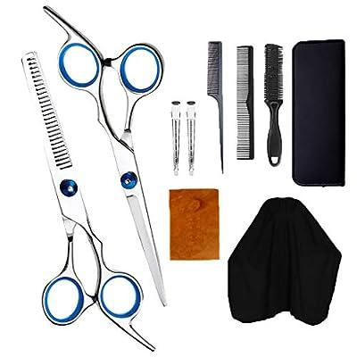 Hair Cutting Scissors Professional Kit, 10 PCS ...