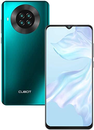 CUBOT Note 20 Smartphone ohne Vertrag, 6.5 Zoll HD Display, 4200mAh Akku, 4 Kameras, 3GB RAM/64GB, Android 10, 4G Dual SIM, NFC, Face ID, Grün