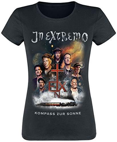 In Extremo Kompass zur Sonne Frauen T-Shirt schwarz M 100% Baumwolle Band-Merch, Bands, Nachhaltigkeit
