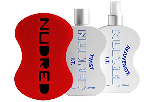 NuDred Starter Kit, Twist and Rejuvenate I.T. Formulas, the Original Red Hair Sponge, with Small Holes