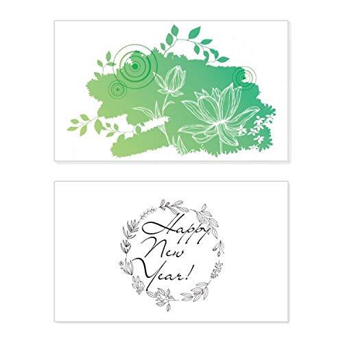 Lotusblume, Froschblätter, Pflanze, Blume, Neujahrskarte